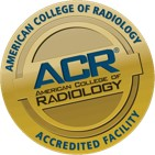 Logo for the American College of Radiology stating our diagnostic imaging services are accredited.