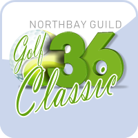 Logo for the 36th annual NorthBay Guild Golf Classic. Click here to go to the event's website and learn more.