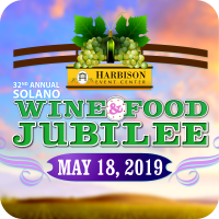 Logo for the Wine & Food Jubilee. Click this image to learn more about this event on May 18, 2019.