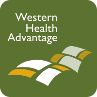Green background with a white and gold Western Health Advantage logo.
