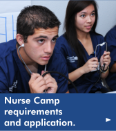 Click here for the Nurse Camp requirements and application.