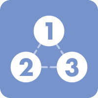 Light grey-blue square with three white circles numbered 1, 2, and 3, connected with a dashed line. Click here to learn more about the Capstone Process at NorthBay Healthcare.