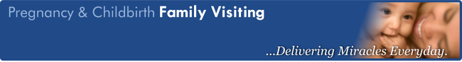 "Banner for Pregnancy & Childbirth's ""Family Visiting"" page"