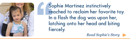Click here to read Sophie's story, Dog Attack – It's Every Parent's Nightmare, on Wellspring.