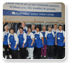 NorthBay Guild volunteers working in the Secondhand Rose