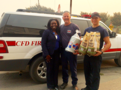 Cordelia Fire officials were happy to receive the food for their crews.