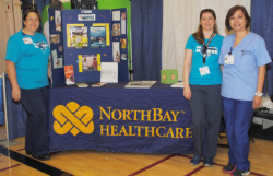 Donna Dabeck, manager of nursing recruitment and retention (left to right) with Laura Kremko, R.N. and anna Isip, R.N.