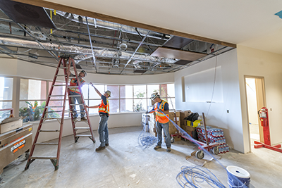 Construction of Phase 1 of the NorthBay Medical Center emergency department expansion is nearing completion.