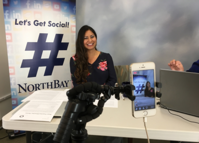 Dr. Amber Stirlen chats with NorthBay Facebook followers via Facebook Live.