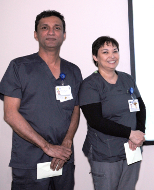 Peter Dhaliwal, R.N. and Marissa Aquino, R.N. were among the nurses nominated for DAISY awards.