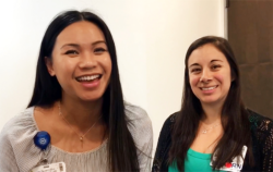 Nurses Sheila Almonia, R.N., and Olivia Avila, R.N., are featured in a Facebook video salute for Nurses Week.