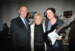 In 2012, in recognition of their support of the NorthBay Hospice program, the Shaws were presented with a guitar signed by rock star Jacoby Shaddox, by his brother, Bryson Roatch.