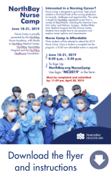 Thumbnail of the Nurse Camp flyer with more information and instructions on how to apply.