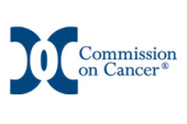 Commission on Cancer logo. Click here to learn more about all the available services we have at our Cancer Center, services we refer out, and our annual case load.