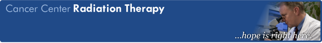 Banner for Cancer's radiation therapy page