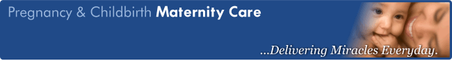 Banner for Pregnancy & Childbirth's Maternity care page